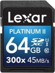 Lexar 64GB SDXC x300 Premium II (Class 10) U1