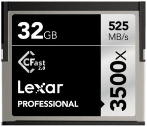 Lexar CFast 2.0 32GB x3500 Professional
