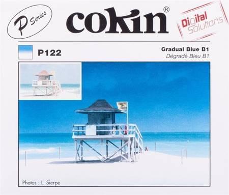 COKIN P122 niebieski połówkowy z twardym przejściem koloru