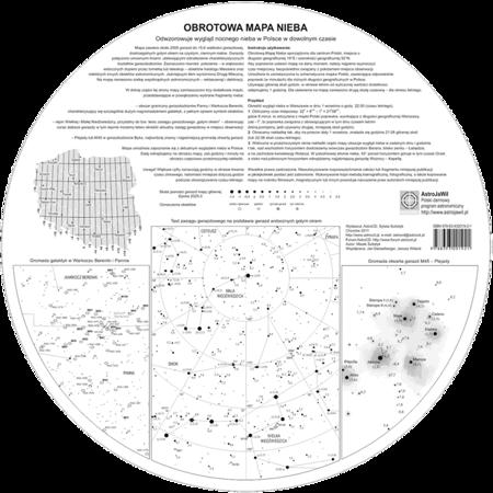 Mapa obrotowa nieba (PCV) duża