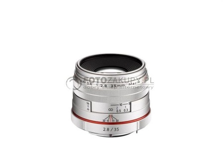 Pentax HD DA 35mm F2.8 Macro Limited - srebrny